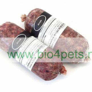 Alrodapuur, vers bio, biologisch vlees voor de kat en hond