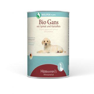 Hermann's Bio Puppy gans met spinazie