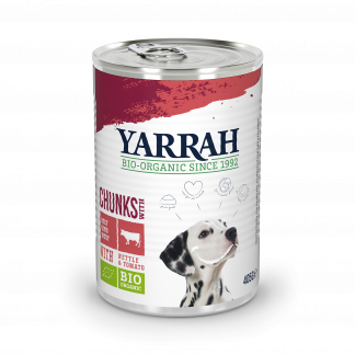 Yarrah_hond_chunks_rund_kip_ DOG_Tin_Chunks_Chicken_Beef 405g