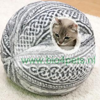Kattenmand-bol-grijs