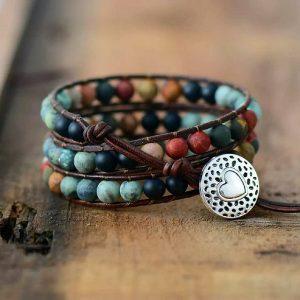 Natuurlijke arm/hals-banden met edelstenen of EM keramiek