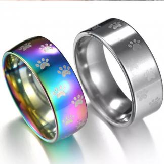 ring-paws-regenboog-zilver-gour-groen-verschillende-maten-mode-ringen-dier-hond-huisdier-kat