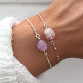 armband-edelsteen-amethist-of-rozenkwarts-zilver