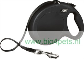 flexi-rollijn-riem-hond-classic-zwart-S-M-L-5-meter-L