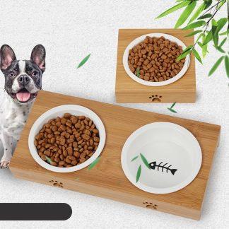 voerbak-met-hond-duo-enkele-waterbak-keramiek-bamboe-hout-standaard.product