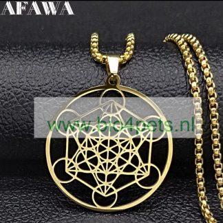 Ketting-amulet-bloem-van-het-leven-goud-product