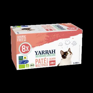 Yarrah-kat-multipack-pate-zalm-zeewier-bio-bio4pets-CAT Multipack Salmon Yarrah 800g - 8x100-gram_8714265977060