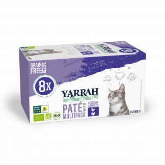 Yarrah-kat-multipack-8x100gram-kip-kalkoen-pate- - CAT Multipack Chicken Turkey Yarrah 800g - landscape_8714265977084