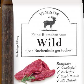 Defu-Hondensnack-Fijne-reepjes-van-gerookt-Hertenvlees-met-heilaarde-571779